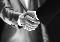 Handshake-bw